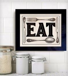 Fork Spoon Knife Print
