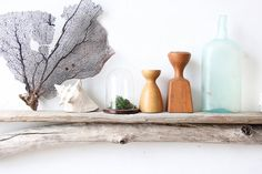 Long Natural Driftwood Shelf by OceanSwept on Etsy