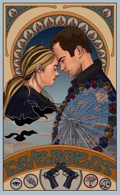 Divergent fan art tris and four