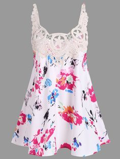 SHARE & Get it FREE | Crochet Lace Panel Floral Print Tank TopFor Fashion Lovers only:80,000+ Items • New Arrivals Daily • Affordable Casual to Chic for Every Occasion Join Sammydress: Get YOUR $50 NOW!