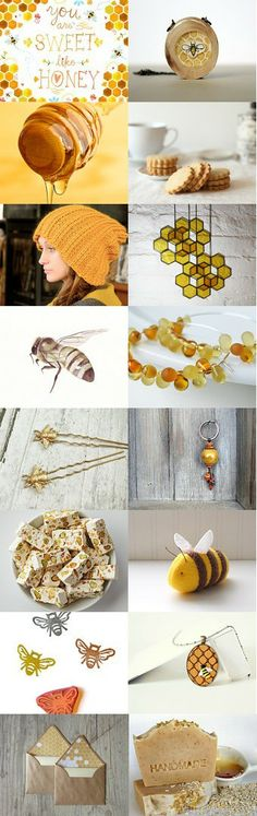 You're sweet like Honey by Ayca Hoser on Etsy--Pinned with TreasuryPin.com