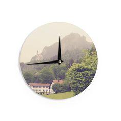 Kess InHouse Sylvia Coomes 'German Beauty ' Green Travel Wall Clock (Green Travel Wall Clock) (Wood)