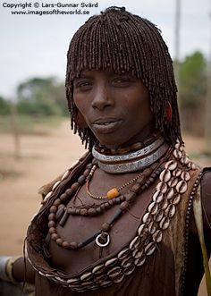 Africa | Hamer woman, lower Omo valley, southern Ethiopia | © Lars-Gunnar Svärd