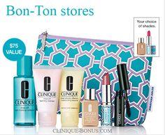 Available now at Bon-Ton stores (online & instores) Qualifier is $28. http://clinique-bonus.com/other-us-stores/