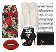 """""""Dark Spring"""" by alicefox149 on Polyvore featuring Dolce&Gabbana, Alexander McQueen, MANGO, Lime Crime, Mulberry, party, aw and dolceandgobbana"""