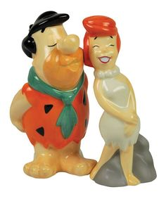 Another great find on #zulily! Fred Kissing Wilma Flintstones Salt & Pepper Shakers #zulilyfinds
