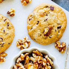 Healthy walnut cookies Low in carbohydrate Easy to lose weight - Recepten Healthy Cookies, Healthy Sweets, Healthy Baking, Sport Snacks, Low Carb Recipes, Healthy Recipes, Chocolate Cookie Recipes, Healthy Chocolate, Chocolate Cookies
