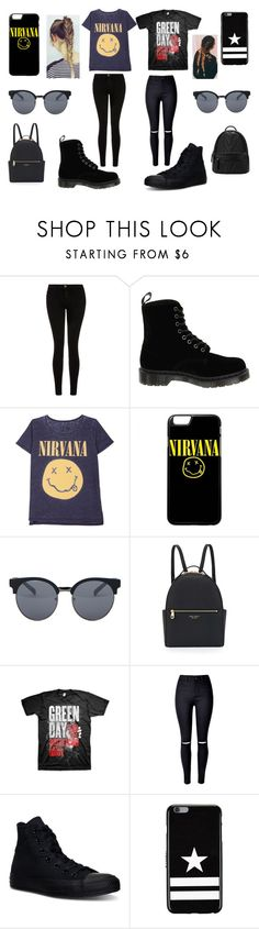 """two in one"" by kennajayce on Polyvore featuring Current/Elliott, Dr. Martens, Quay, Henri Bendel, WithChic, Converse and Givenchy"