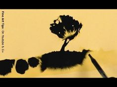 """How to Paint With Ink - Amazing Drawings """"Magically"""" Appearing"""