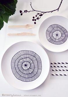 Ceramica DIY con pinturas y rotuladores
