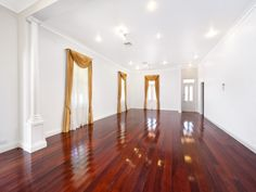 Highly polished timber floors ready for the new furniture. #timberfloors