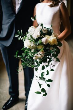 Overgrown Winter White Bouquet | Photography: Alexandra Jordan Photography | Florist: Ever Something | #weddings #bridesofok #bouquets