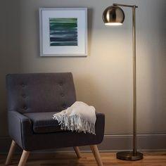 Modern Globe Floor Lamp  - Brassy Gold - Threshold™