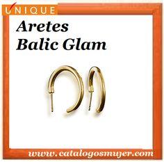 Aretes BALIC GLAM finas argollas en Baño de Oro de 24 kilates   *60%*Precio Oferta S/.24.90