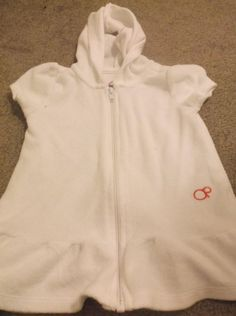 Girls Hooded Swim Robe White Terry Cloth  24 Mos Ocean Pacific OP Zip Front #OceanPacific #CoverUp