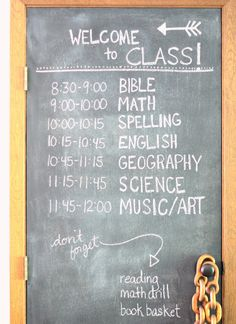 great homeschool schedule! :)