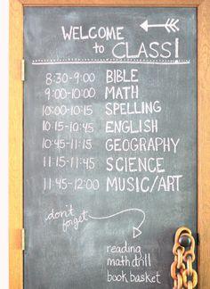 great homeschool schedule! :)