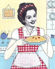 Claudine Hellmuth… de Ilustraciones con Collage a pasatiempos en los 50s | Cherry Blog