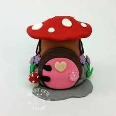 Gnome huis Fairy tuin pot, elf huis, mini tuinhuis, klei pot huis, grillige huis, terrarium huis