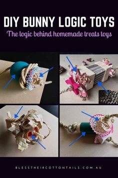 Make your own treat toys for your pet rabbits. What makes a good logic toy and a few examples of toys incorporating different materials and styles of play Rabbit Diet, Pet Rabbit, Hunny Bunny, Baby Bunnies, Bunny Rabbits, Diy Bunny Toys, Diy Toys For Rabbits, Rat Toys, Bunny Care