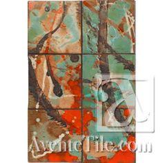 David Shipley Conversations #5 Hand Painted Ceramic Tile