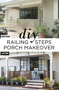 Learn how to upgrade your old porch with DIY wood railing and steps