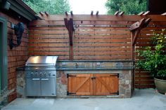 Built in Contemporary BBQ