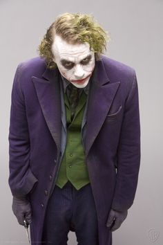 Heath Ledger as The Joker, from The Dark Knight (2008).