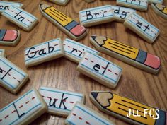 This will be a cute way to sign in every morning, but make these using dominoes or blocks