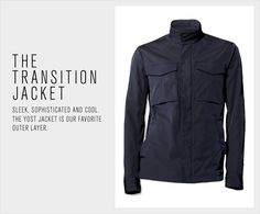 Theory men:  Very nice focus on the product.  It shows detail of the jacket and the copy nicely supports the imagery.