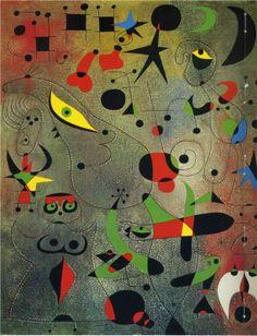 Joan Miró, Constellation: Awakening in the Early Morning (Kimbell Art Museum) Spanish Painters, Spanish Artists, Kandinsky, Art Espagnole, Joan Miro Paintings, Oil Paintings, Pablo Picasso, Surreal Art, Oeuvre D'art
