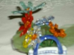 Bead flowers i made for a friend!