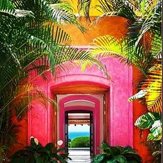 Las Alamandas beach resort in Mexico had me at its doorsteps! This A-list hideaway south of Puerto Vallarta bursts with pink, orange an. Mexico Resorts, Beach Resorts, Puerto Vallarta, Natural Beauty, Coastal, Neon Signs, Paraben Free, Instagram, Bikini Swimsuit