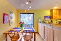Image result for green walls kitchen