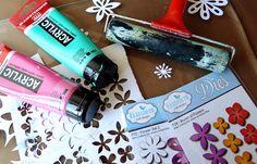 Marsha Valk | Elizabeth Craft Designs - Gelli Plate Printing with Die-cuts