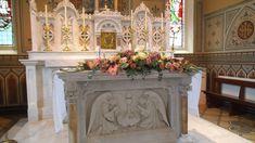 altar arrangement by The Posy Barn