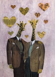 Gentlemen Giraffes Card