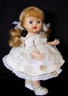 """VINTAGE HARD PLASTIC """"MUFFIE"""" DOLL AND TAGGED OUTFIT #702 BY NANCY ANN IN 1957  #NancyAnn #DollswithClothingAccessories"""