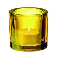 Kivi, #yellow #candle_holder, by Heikki Orvola, @Iittala Official