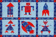 Patchwork & Quilting - Thread Friends - Free Sewing Patterns - Rockets and Robots