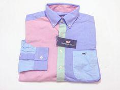 Vineyard Vines M Slim Fit Tucker Oxford Party Shirt Multi-Color Medium NEW NWT #VineyardVines #ButtonFront