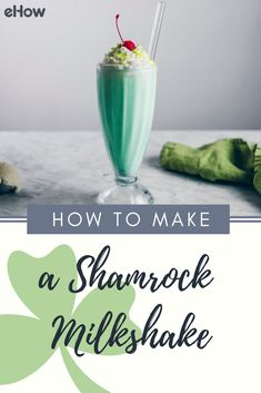 The Shamrock milkshake is a vibrantly green and delightfully minty dessert that comes out of hiding each March in celebration of St. Patty's day. Making this festive dessert is quite simple and definitely worth it, so you'll be able to begin celebrating in no time.