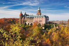 Poland,  Książ castle,  autumn
