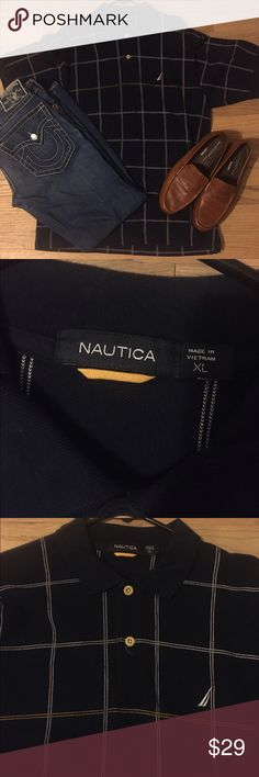 Nautica stripped checkered button collared dress EUC so my bf buys shirts only wears 1x! All are available excellent condition almost new with tags NWT! 👀 will do great bundles I have multiple listings ! Men's polos have button up down dress or casual short half sleeve shirt w collar . All accessories listed! Some striped tiny or Large w many colors w red green blue orange yellow purple pink brown. Tags # Tommy Hilfiger # polo Ralph Lauren Eddie Bauer performance classic true deck shirt…
