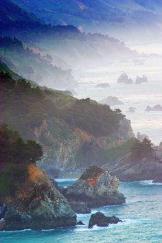 Big Sur, Highway One, California, coastline, mountains, Ocean, photograph, prints, Mike Barton