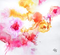 Title: Spring Collection, Original illustration by Arty Guava. #illustration #watercolor #girl