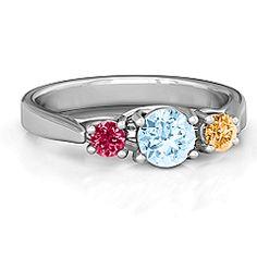 3-Stone Graduated Ring #jewlr
