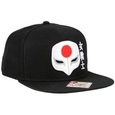 DC Comics Suicide Squad Katana Snapback Hat ($16) ❤ liked on Polyvore featuring accessories, hats, multi, flat bill snapback hats, snapback hats, embroidered hats, snap back hats and flat bill snapback