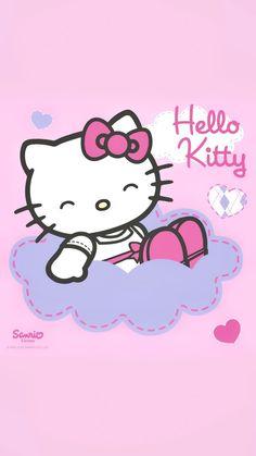 Hello Kitty Art, Hello Kitty Themes, Sanrio Hello Kitty, Hello Kitty Pictures, Kitty Images, Hello Kitty Backgrounds, Hello Kitty Wallpaper, Sanrio Wallpaper, Kawaii Wallpaper