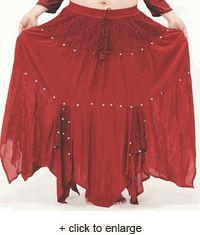 Ribbons & Beads Rayon Skirt